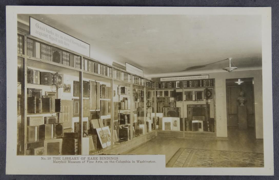 Washington DC Maryhill Museum Library of Rare Bindings Real Photo RPPC Postcard