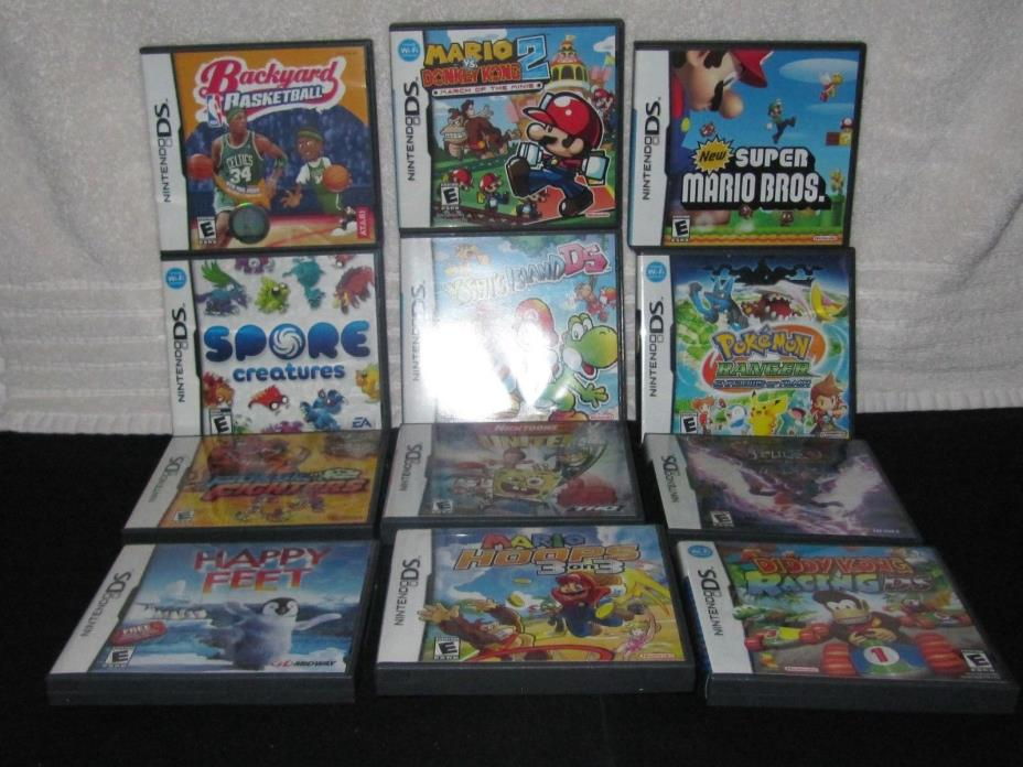 NITENDO DS OFFICIAL NITENDO GAMES ASST OF 12
