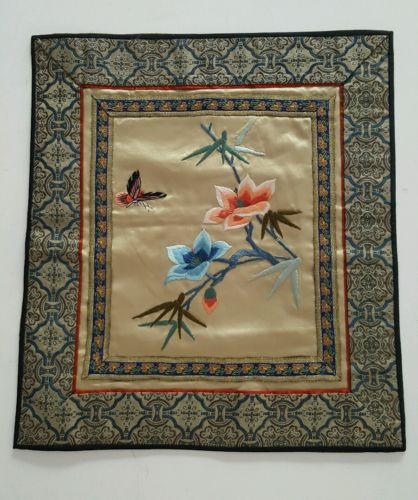 CHINESE Silk Embroidery Panel Textile