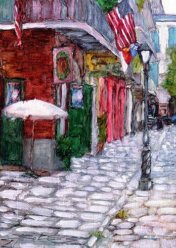 ORIGINAL**Hand Painted** FRENCH QUARTER NEW ORLEANS