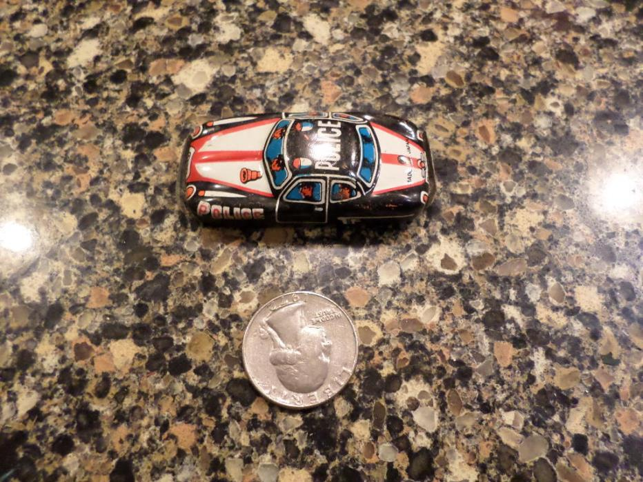 marx tin police car vintage mini