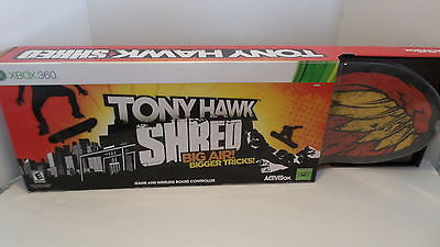 NEW Tony Hawk XBOX 360 Shred Video Game & Wireless Skate Board Controller