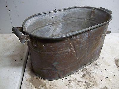 Rough Old CopperWash Boiler Laundry Tub for  Flower Pot Garden Planter