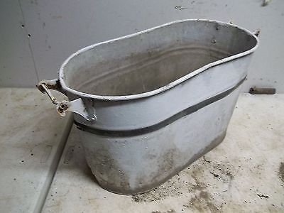 Rough Old Steel Wash Boiler Laundry Tub with stripe Flower Pot Garden Planter