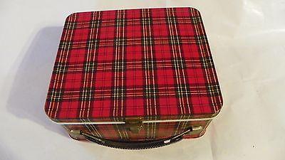 vintage aladdin plaid childs lunch box