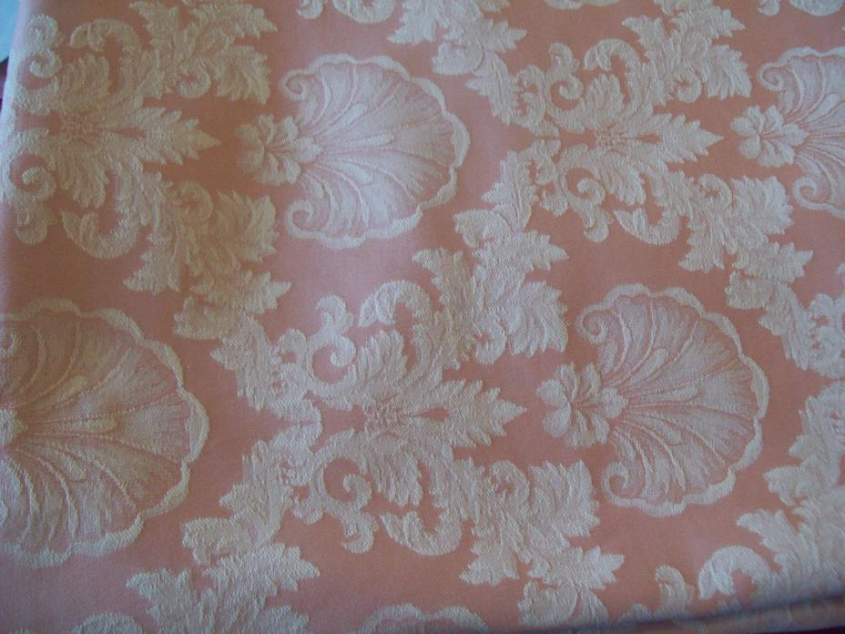 SATIN BROCADE CREME & PINK  FABRIC  55