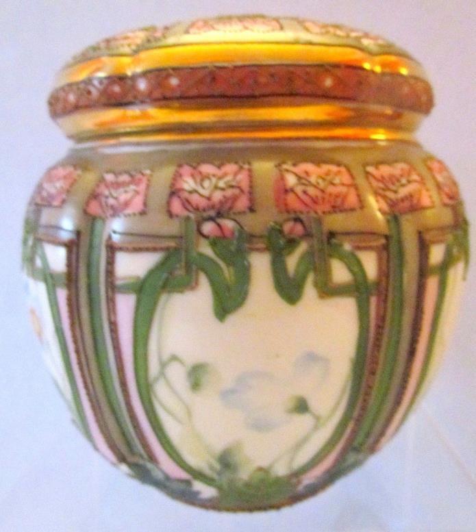 Antique Nippon Art Nouveau Humidor