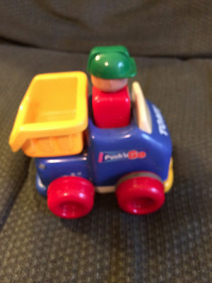 VINTAGE TOMY PUSH AND GO PLASTIC MOVING CAR TRUCK TOY!