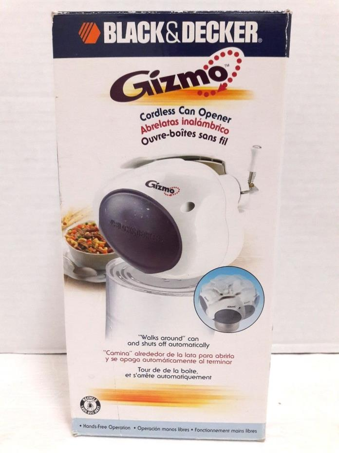 Black & Decker GC100 Gizmo White Spacemaker Cordless Can Opener