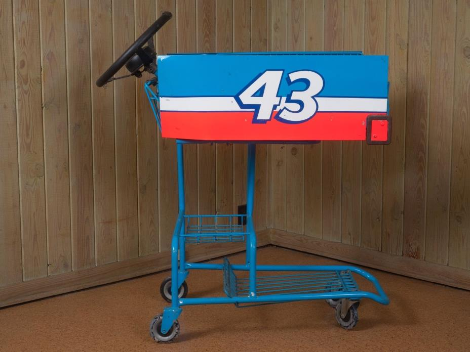 Rare One Off Richard Petty Prepped Food Lion Grocery Cart Used in Promotion