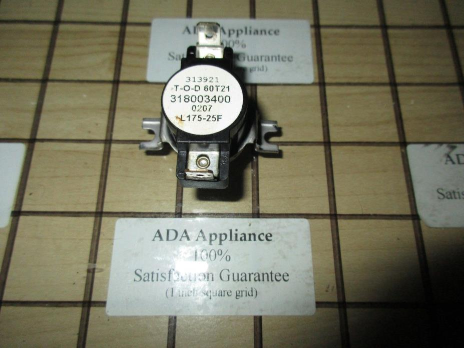KM / Frigidaire Range Thermostat 318003400, 499274 SATISF GUAR