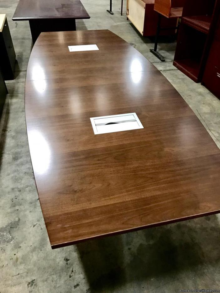 10' Walnut Veneer Conference Table by Paoli