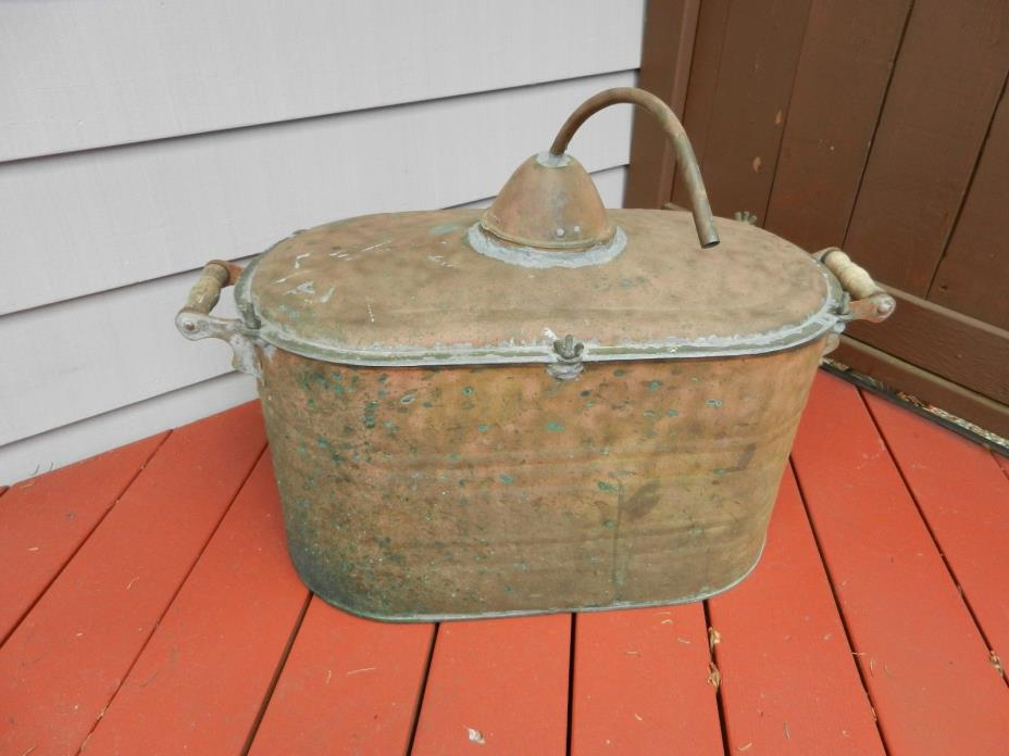Antique primitive Copper Moonshine Whiskey Still