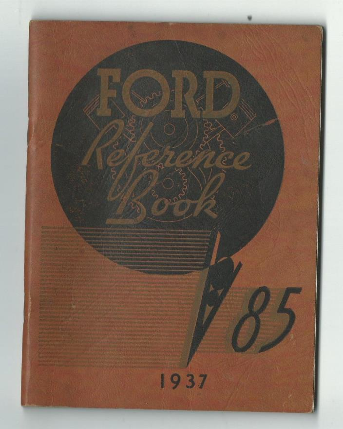 1937 FORD 85 Reference Book Manual Ford Motor Co Dearborn Michigan