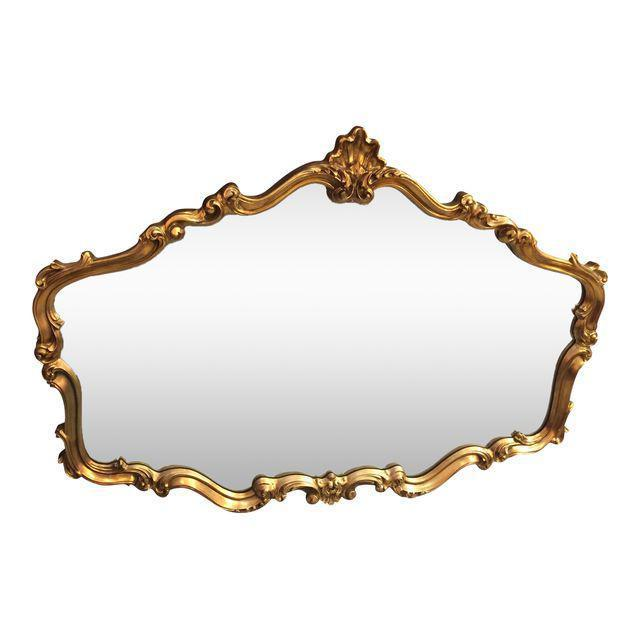 French Gold Detail Style Mirror
