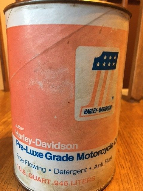 Vintage Can Harley Davidson #1 Motorcycle Oil, Pre-Luxe Grade - NEW
