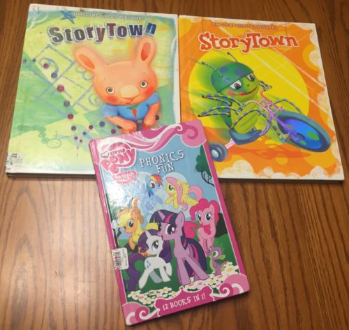 Harcourt Storytown First Grade Reading Books My Little Pony Phonics Fun Lot Set