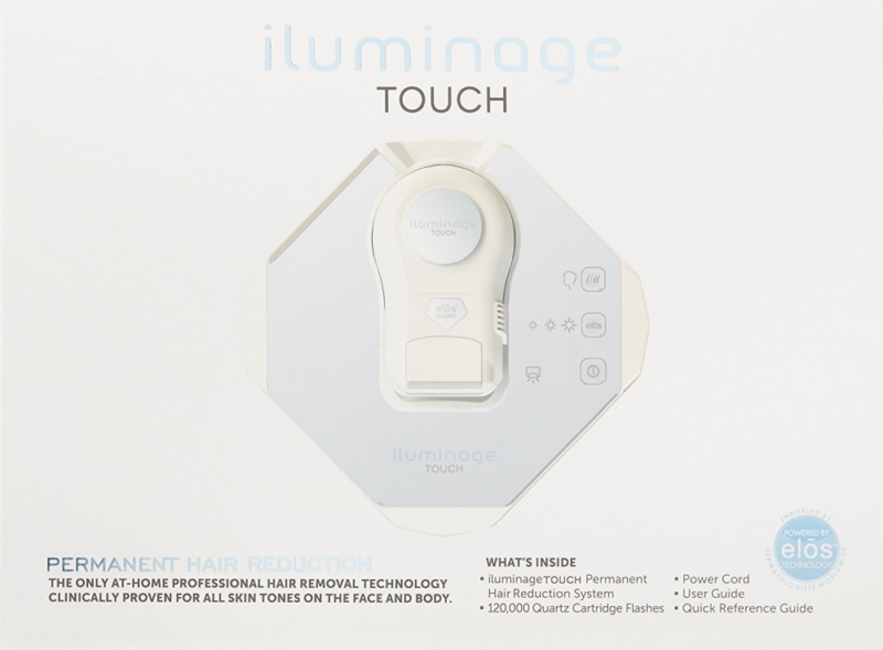 iluminage Touch Permanent Hair Reduction Device with FDA-cleared IPL RF Technolo