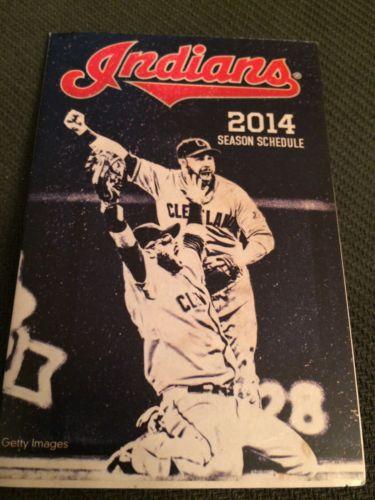 2014 Cleveland Indians Pocket Schedule Mart Version
