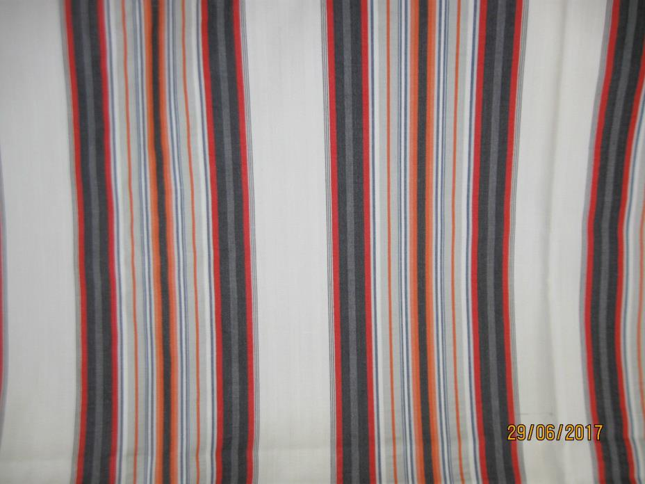 Vintage Cotton Blend Stripe Pattern Fabric - 46