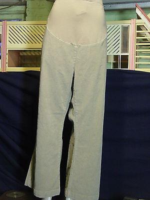 Women's Maternity Two Hearts size 3X Tan stretch Corduroy pants EUC