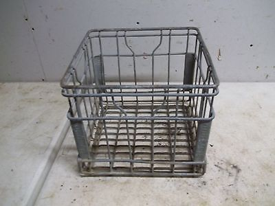Old Metal Milk Crate Bottle Carrier Wapello DY 63