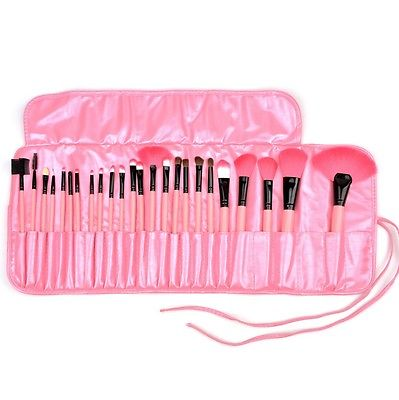 New 24PCS All Pink Make up Brushes