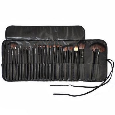 New 24pcs AlL Black Make Up Brushes
