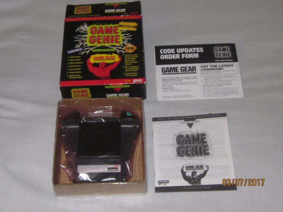 1993 Sega Game Gear Game Genie, VIDEO GAME ENHANCER  -NEW OLD STOCK-