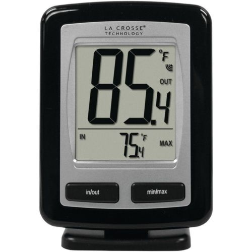 LA CROSSE TECHNOLOGY Black Wireless Temperature Station WS-9009BK-IT-CBP WS9009B