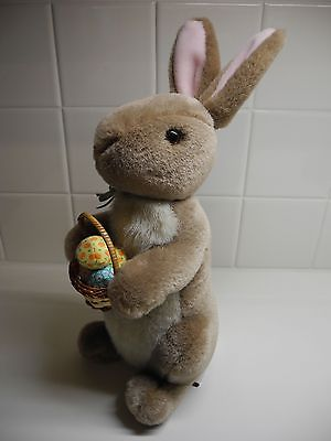 Gund Classic Pooh Disney Cottontail Easter Bunny Stuffed Toy Eggs Wicker Basket