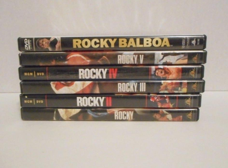 Rocky Balboa 6  DVD Movie Lot, including 1-5, and Rocky Balboa!!