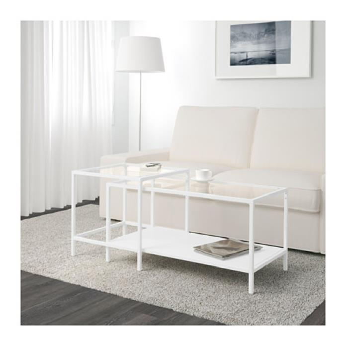 Coffee table from IKEA - VITTSJO white