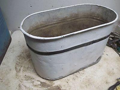 Old Painted Steel Wash Boiler Laundry Tub for  Flower Pot Garden Planter