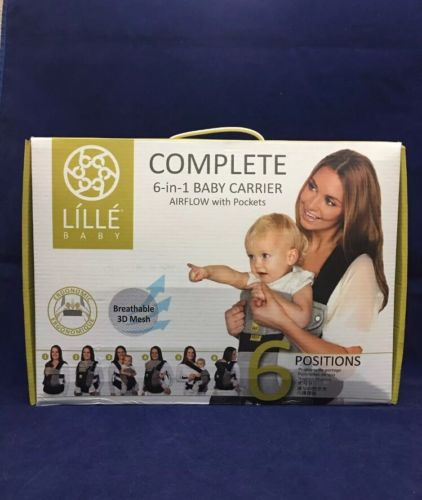 Lille Baby Complete 6-in-1 Baby Carrier Airflow With Pockets Breathable 3D Mesh