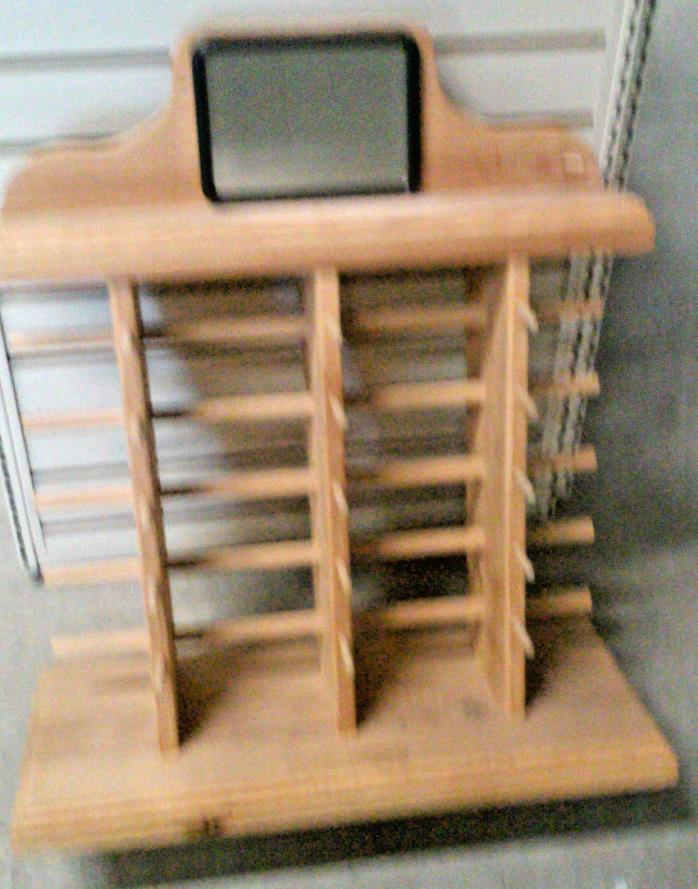 SUNGLASSES DISPLAY - MADE OF WOOD - HOLDS 15 GLASSES - COUNTER TOP OR SHELF UNIT