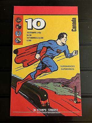 Canada #1583b (BK185) Comic Book Superheroes .45¢ U.S. Booklet of 10