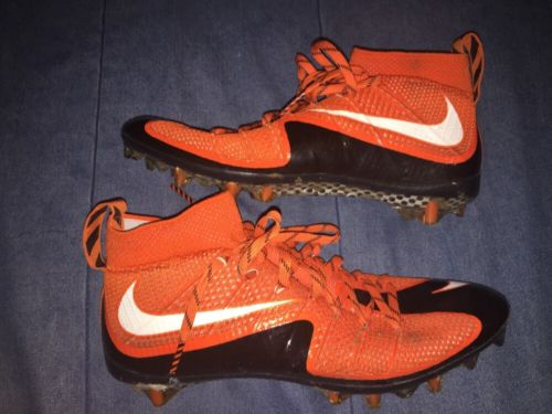 Derrick Kindred Game Used Worn Nike Cleats Cleveland Browns TCU
