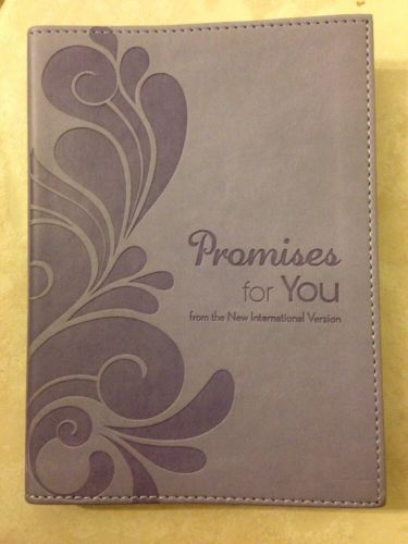 Promises for You NIV Bible Leather-bound Lavender BRAND NEW!  Gift Quality!