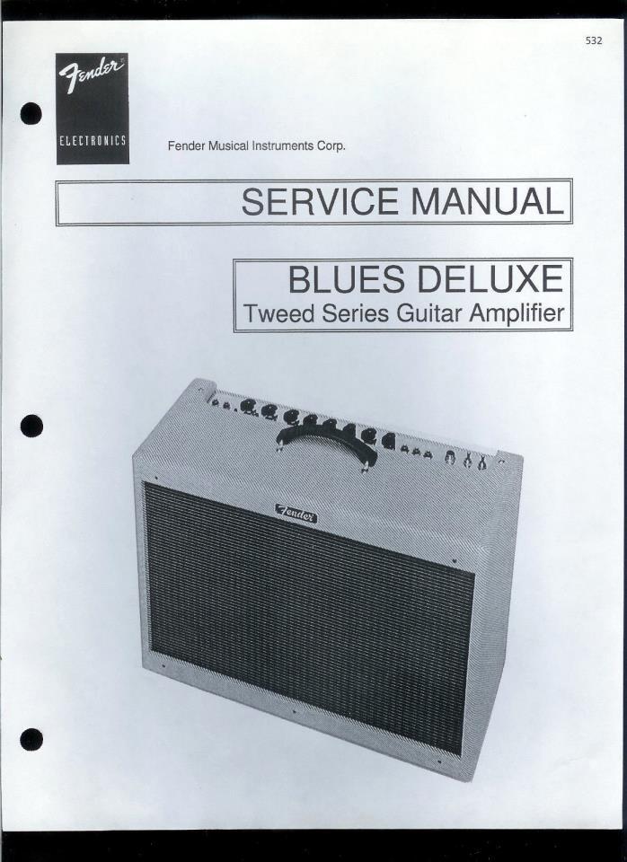 Copy Fender Blues Deluxe Tweed Series Guitar Amplifier Parts List & Schematic(s)