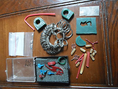 Lot of Jewelry Making supplies, casting wax forms, ring sizer
