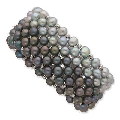 Ladies pearl and sapphire bracelet