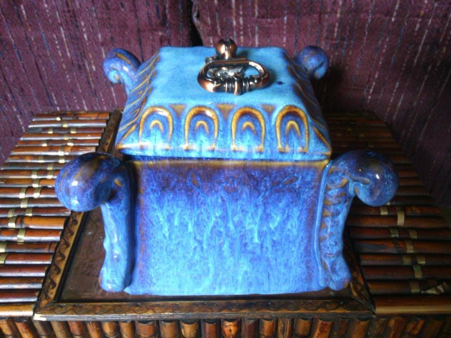 ANTIQUE Porcelain / Brass - HUMIDOR - TEA CADDIE - VASE - STORAGE BOX - URN
