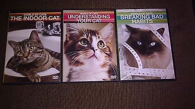 World of Cats 3 dvd set Understanding Your Cat, Indoor Cats, Breaking Bad Habits
