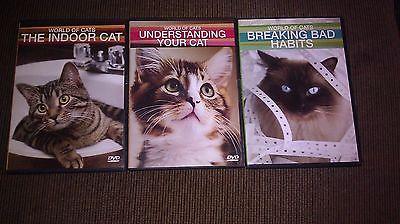 World of Cats 3 dvd set Understanding Your Cat, Indoor Cats, Breaking Bad Habits
