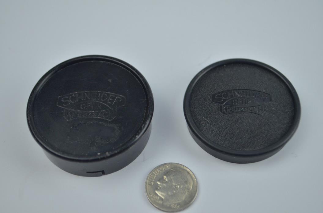 Vintage Schneider Optik Kreuznach camera lens caps