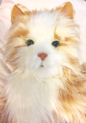 Hasbro Joy For All Orange Tabby Cat Interactive Companion Pet