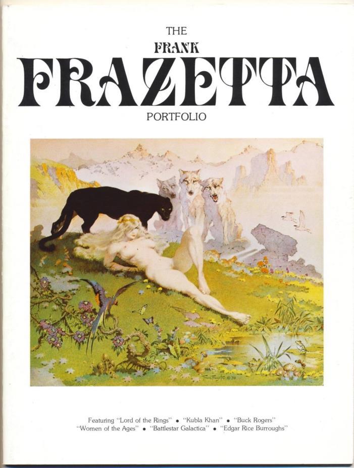 FRANK FRAZETTA PORTFOLIO VF, Magazine, Fanzine, Frazetta Prints 1979