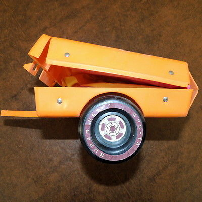 Barbie 1970s Transportation Camper Auto VINTAGE Camper  Orange Yellow