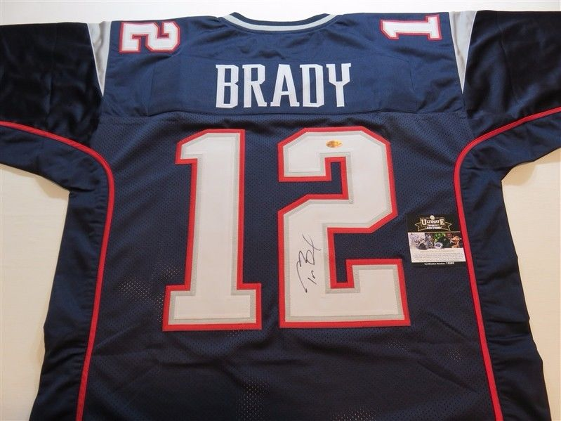 Tom Brady Signed Autographed Jersey w/ COA New England Patriots